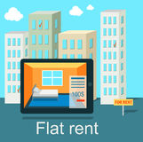 Flat Rent Price Design Concept Royalty Free Stock Images