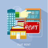 Flat Rent Price Design Concept Stock Photo