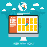 Flat reservation room background design concept. Stock Photos