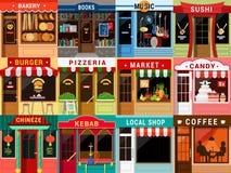 Free Flat Restaurant Cafe Shop Exterior: Kebab Coffee Bakery Pizzeria Royalty Free Stock Photography - 59050937