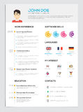 Flat Resume with Infographics. Resume cv set. Vector vector illustration