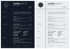 Flat Resume with Infographics and Timeline. Stock Images