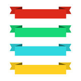 Flat ribbons banners. Ribbons in flat design. Vector set of colorful ribbons Royalty Free Stock Photos