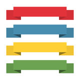 Flat ribbons banners. Ribbons in flat design. Vector set of colorful ribbons Royalty Free Stock Images