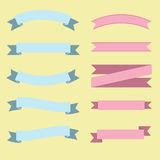 Flat  ribbons banners Stock Photo