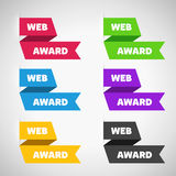 Flat Ribbons Collection. Different designs Stock Photo