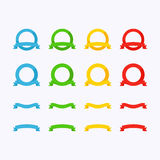Flat Ribbons Royalty Free Stock Image