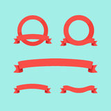 Flat Ribbons Royalty Free Stock Photo