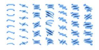Flat Ribbons Set Stock Images