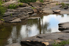 Flat Rocks and Creek Stock Image