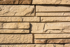 Flat rocks layered to form a solid wall Stock Image