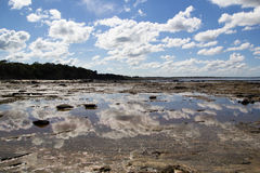 Flat Rocks Near Inverloch, Victoria. Flat Rocks fossil site near Inverloch, Victoria, Melbourne Stock Photos