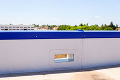 Flat roof on industrial hall Royalty Free Stock Photo