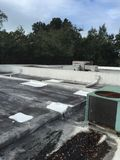 Flat Roof Roofing Repairs, Gacco application Royalty Free Stock Photos