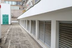 A  Flat roof with skyl ight out door Stock Photos