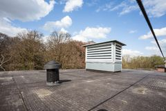 Cooling air conditioning. On an flat roof there cooling air conditioning Royalty Free Stock Photography