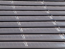Flat-Roof top solar panel Royalty Free Stock Photography
