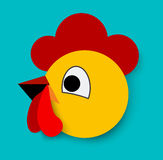 Flat Rooster icon. Royalty Free Stock Images