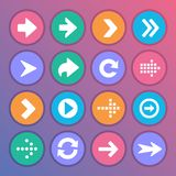 Flat and round arrow icons stock illustration