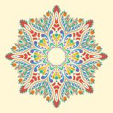Flat round decorative ornament. Design. vector illustration Stock Photos