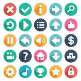 Flat and round game icons Royalty Free Stock Image