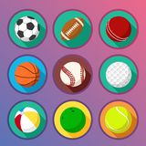 Flat and round sport icons Royalty Free Stock Photography