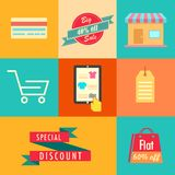 Flat Sale Banner stock illustration