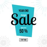 End of Year Sale Banner Vector vector illustration
