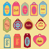 Flat sale tags collection Royalty Free Stock Image