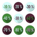 Flat sales buttons Stock Photo