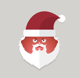 Flat santa claus angry emoticon. vector illustration. Royalty Free Stock Image
