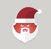 Flat santa claus angry emoticon. vector illustration. Royalty Free Stock Image
