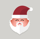 Flat santa claus smile emoticon. vector illustration. Royalty Free Stock Photography