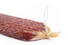 Flat sausage Stock Photography