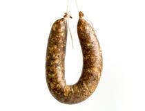 Flat sausage raw Royalty Free Stock Image
