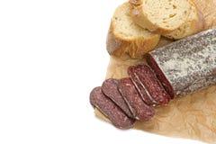 Flat sausage Royalty Free Stock Image