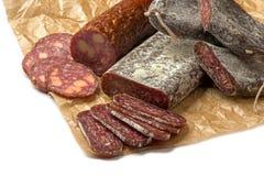 Flat sausage Stock Photo