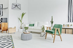 Flat in scandinavian style Stock Images