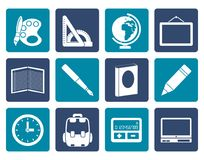 Flat School and education icons. Vector icon set Royalty Free Stock Image