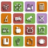 Flat School Icons Set With Shadow Vol 2. This is file of EPS10 format Royalty Free Stock Image