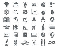 Flat School Icons Vector Collection Stock Image