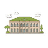 Flat School Illustration Royalty Free Stock Photos