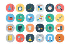 Flat Science and Technology Icons 4 Royalty Free Stock Photo