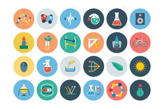 Flat Science and Technology Icons 3 Royalty Free Stock Image