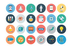 Flat Science and Technology Icons 1 Royalty Free Stock Photos