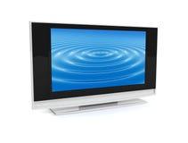 Flat screen. Plasma TV on isolated white background - Lcd Stock Image