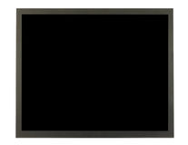 Flat Screen. Isolated in white Stock Images