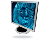 Flat screen computer Stock Photography