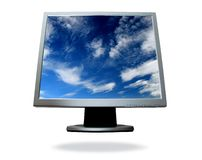 Flat screen computer Stock Image