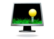Flat screen computer. Image on the white background Royalty Free Stock Photography